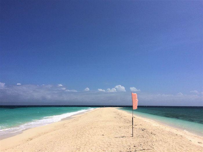 Beach Blue Flag Kalanggaman Island No People Philippines Red Flag Sand Sandbar Sea Vacations Water Wind Travel