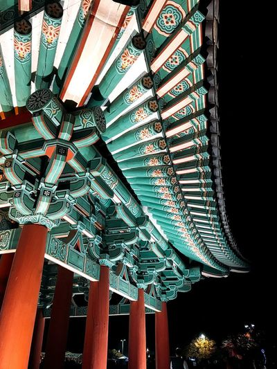 Korea Royal Palace Korea Trip Gyungju Low Angle View Built Structure Pattern Architecture Night