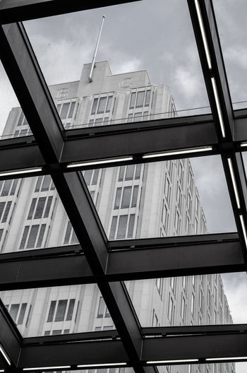 Architecture Berlin Architecture Building Building Exterior Built Structure City Cloud - Sky Day Glass Glass - Material Low Angle View Modern Nature No People Office Office Building Exterior Outdoors Reflection Sky Skyscraper Streetphotography Tower Transparent Window