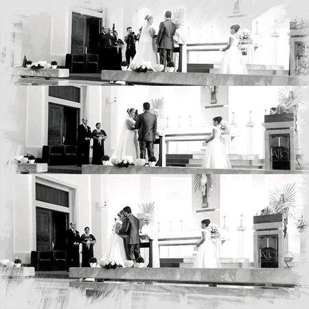 Ele: sim... Ela: sim... E o Beijo , que a alegria, a felicidade, cumplicidade e tudo de bom que estiveram presentes em todos esses anos que permaneçam por outros inúmeros anos com vocês, essa união sempre foi e será abençoada, felicidades Ju &Pedro Casamento Incrivel Lindos Parabéns