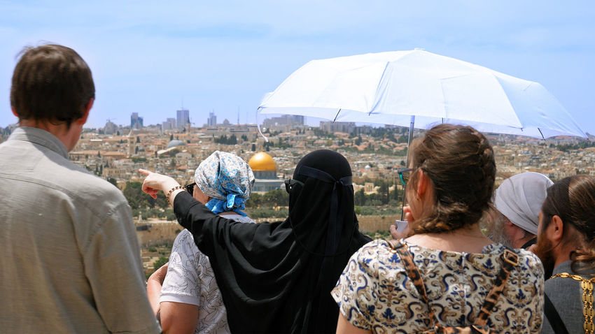 Al Aqsa Dome Of The Rock Palestine Adult Architecture City Day Friendship Israel Jerusalem Leisure Activity Lifestyles Men Outdoors People Real People Sky Women An Eye For Travel The Traveler - 2018 EyeEm Awards