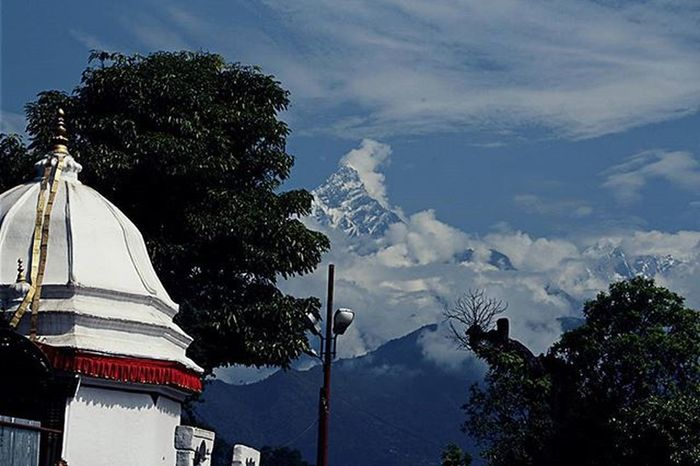 LastYear View of Machhapuchhare from Bindabasini Temple