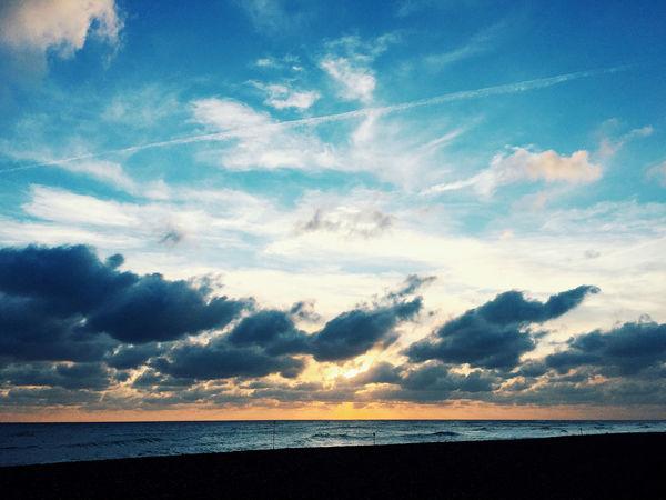 Goring beach Beach Sand Sea Rocks Seashore Seaside England Worthing Goring By Sea Cloud - Sky Sky Beauty In Nature Horizon Scenics - Nature Horizon Over Water Tranquility Water Tranquil Scene Land Nature No People Outdoors Sunset Idyllic Non-urban Scene Blue