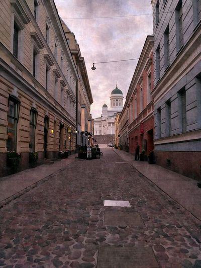 Street amidst a city