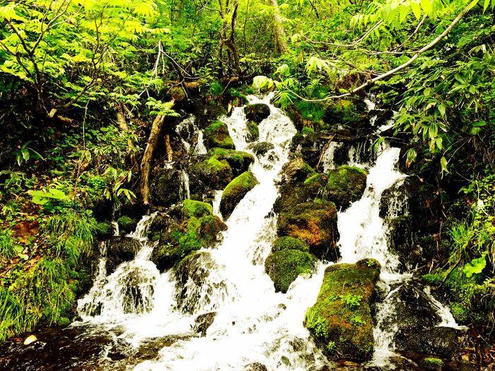 Waterfall YAMAGATA Water Japan Gassan