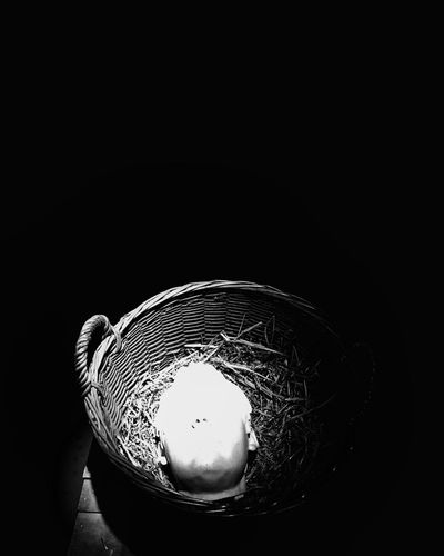 Hows your head Glasgow Museum Of Modern Art Glasgow  Scotland Basket Decapitated HEAD Hows Your Head Wheres Your Head At Extreme Hihlight Blackandwhite Black Background No People Studio Shot Close-up Night Outdoors