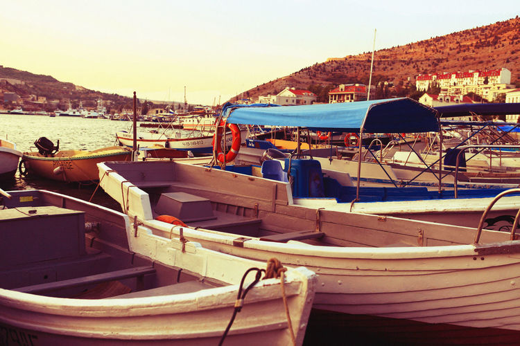 Balaklava Crimea Beauty In Nature Boat Day Idyllic Mode Of Transport Mountain Nature Nautical Vessel No People Outdoors Scenics Sky Tranquil Scene Tranquility Travel Destinations Water