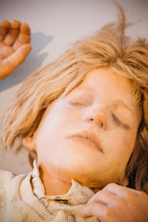 Art ArtWork Blond Hair Focus On Foreground Human Representation Kunsten Kurt Trampedach Lying Down Manequin Resting