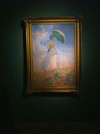 Picture Frame Human Representation Female Likeness Indoors  Illuminated Painting Monet Impressionism Impressionisme Art Wall Like4like Tagsforlikes