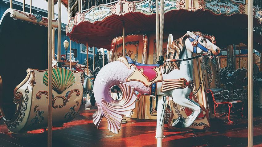 Chimera Merry-go-round Merrygoround Merry Go Round Pier39 San Francisco Sanfrancisco California USA United States Vintage Vintage Photo Vintage Style Retro Retro Style Retrophoto Phone Camera EyeEmNewHere
