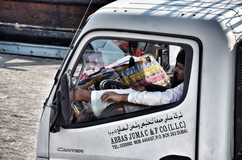 Daily life in Dubai Transportation Only Men People Outdoors Adult Day Dubai Men Streetphotography Street