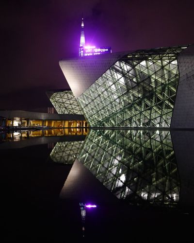 Natural light Architecture Illuminated Built Structure Building Exterior Night Reflection City Sky Water Outdoors Building Light The Architect - 2018 EyeEm Awards