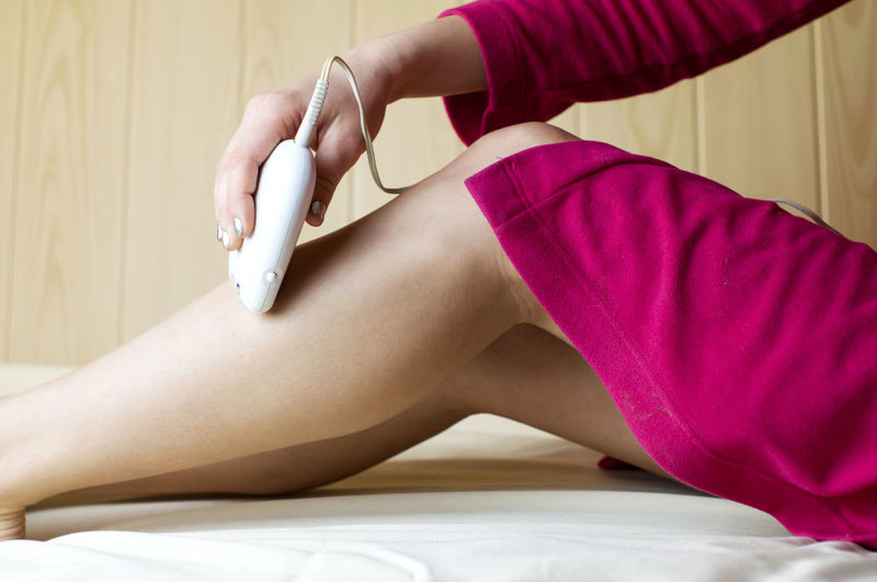 Body Care Depilation Hair Removal Legs Salon Skinny Appliance Beauty Epilator Epilator, Epilator, Hair Removal, Hair Removal, Depilation, Legs, Hair Removal Healthcare And Medicine Healthy Eating Human Body Part Human Leg Low Section Luxury Lying Down One Person People Real People Smooth Skin