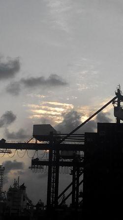 Cloud - Sky Outdoors Bridge - Man Made Structure One Man Only Space Sunset @JICT PORT
