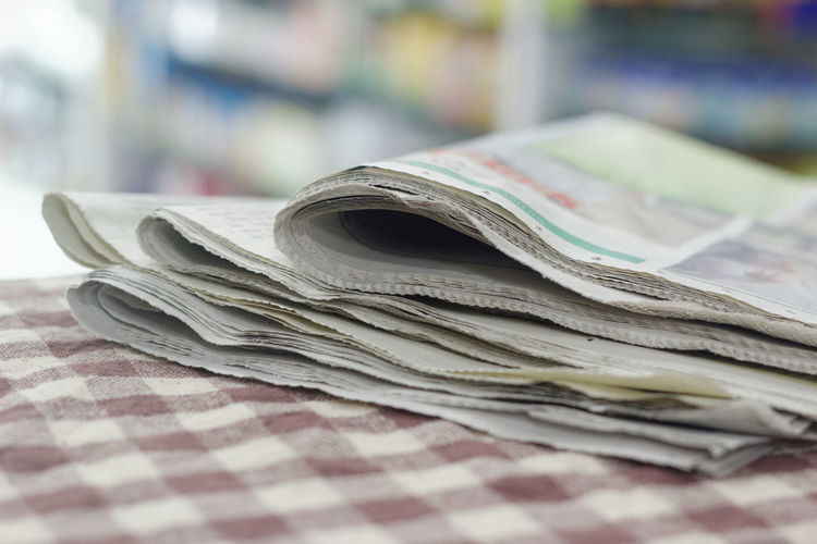 Newspaper Blur Background Knowledge Daily News Paper The Media Newspaper Journalism Business Stack Paper Business Finance And Industry Close-up Folded