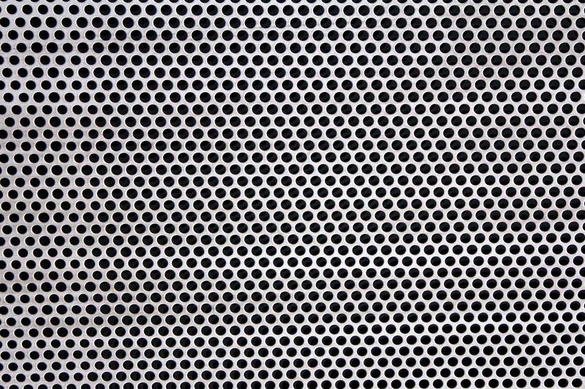 Pattern Background Close Up Aluminum Gray