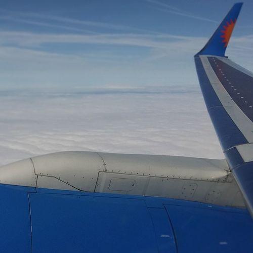 Obligatory wing shot. Flight Plane Sky Clouds Wing Engine @jet2pics Aircraft Jet2
