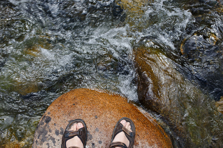 Foot above Feets Foot Hiking Summertime Travel Travel Photography Traveling Walk Above Clear Clear Water Concept Hike Hiker Nice River Stone Summer Top View Travel Destinations Walking Water