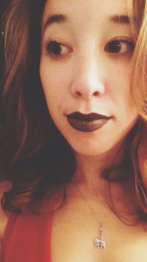 Black lips Makeup Lipstick