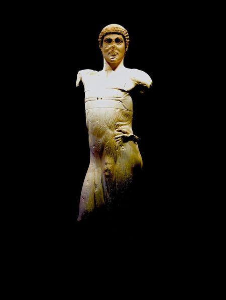 Island of Mothia Mothia Giovinettodimozia Statue Museum Artgallery WOW Epic Sicilia Sicily Balckbackground Black Mystery Greekart Greek Italy Human Rapresentation Indoors  Mythology Mythological People Sculpture Black And Withe EyeEmNewHere