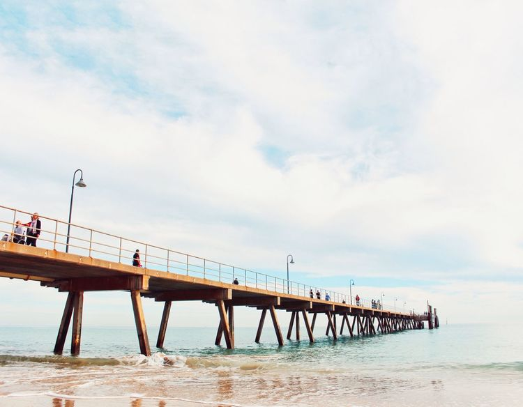 Glenelg, SA. 2017. Cloud - Sky Sky Sea Water Built Structure Architecture Connection Bridge - Man Made Structure Day Nature Outdoors Horizon Over Water Scenics Beauty In Nature No People Australia South Australia Southaustralia Glenelgbeach Adelaide, South Australia Check This Out Fresh On Eyeem