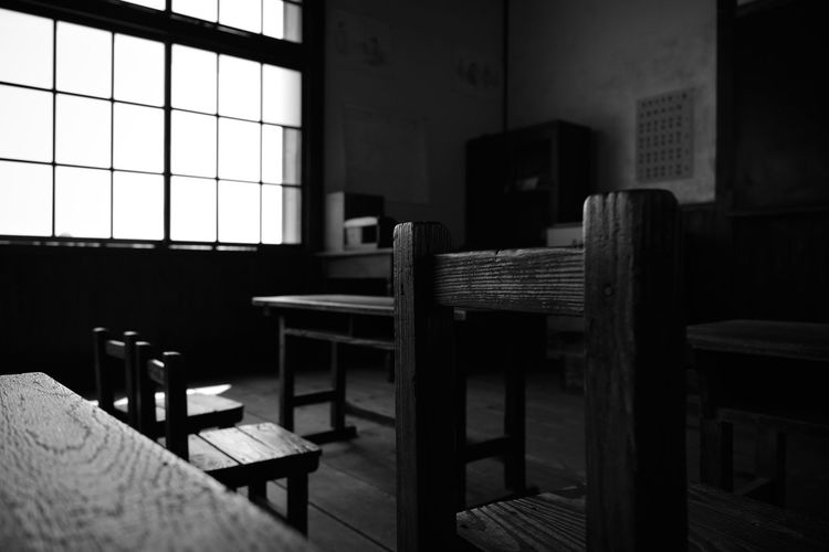 School Oldchairs Light And Shadow Monochrome Japan Japanese  Cool The Architect - 2016 EyeEm Awards