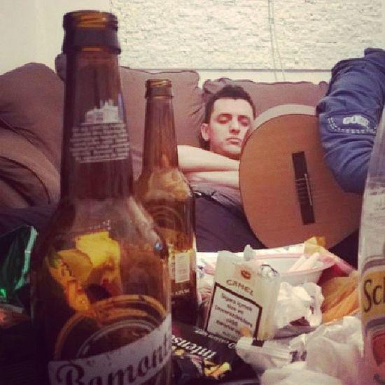 Sleeping Beer Playguitar Partyhard something everything happens