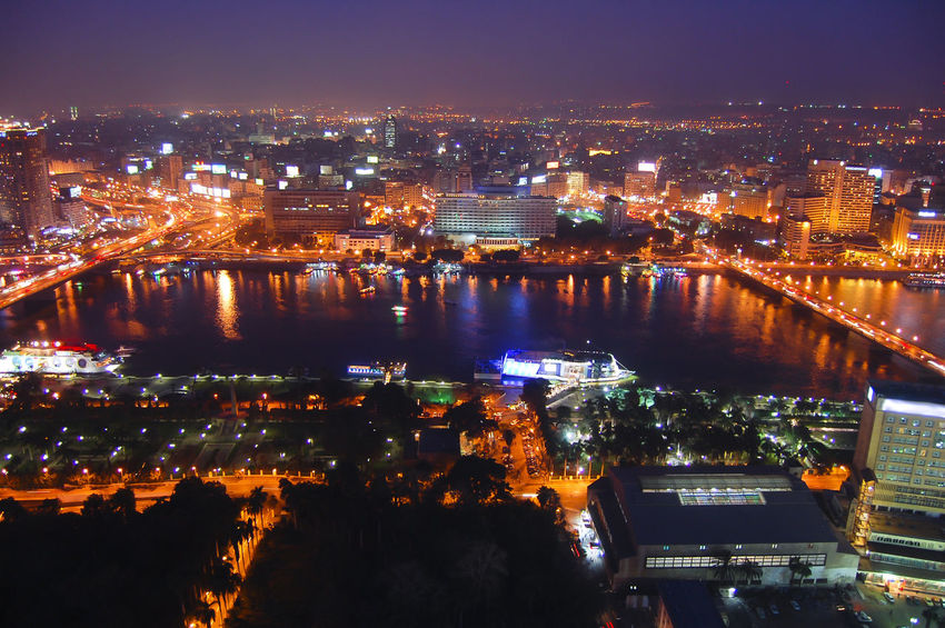 Cairo at Night - Egypt Cairo Cairo Egypt Egypt Nile River The Nile River Built Structure City Cityscape Illuminated Night Nile Urban Skyline