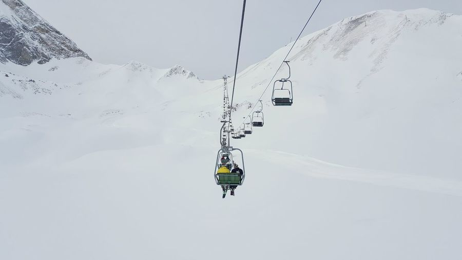 Adventure Arlberg Cold Temperature Extreme Sports Leisure Activity Lifestyles Men Mountain Overhead Cable Car Season  Ski Lift Skiing Skiresort Snow Snowcapped Mountain Sport Transportation Travel Unrecognizable Person Winter