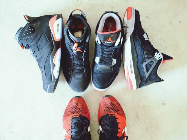 Sneakers AirJordan  Bred4s Infrared 6s  Flyknitracer