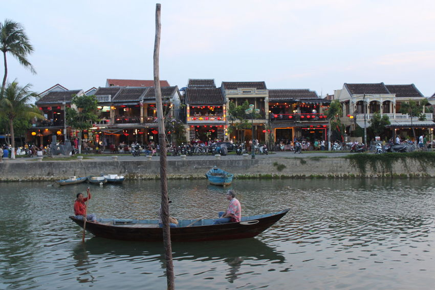 #Vietnam #VietnamLife Adult Architecture Building Exterior Built Structure Canal Day Group Of People Lifestyles Men Mode Of Transportation Nature Nautical Vessel Outdoors People Real People Sky Transportation Water Waterfront Women