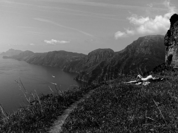The path of the Gods 01 Amalfi  Amalfi Coast Cliff Coastline Costangelo Costangelopacilio The Great Outdoors - 2017 EyeEm Awards Candid Photography The Street Photographer - 2017 EyeEm Awards UNPOSED Positano Praiano Sentierodeglidei Street Street Photography Streetphoto_bw Streetphotography Temple Temples Thepathofthegods Travel Travel Destinations Travel Photography Traveling Travelling