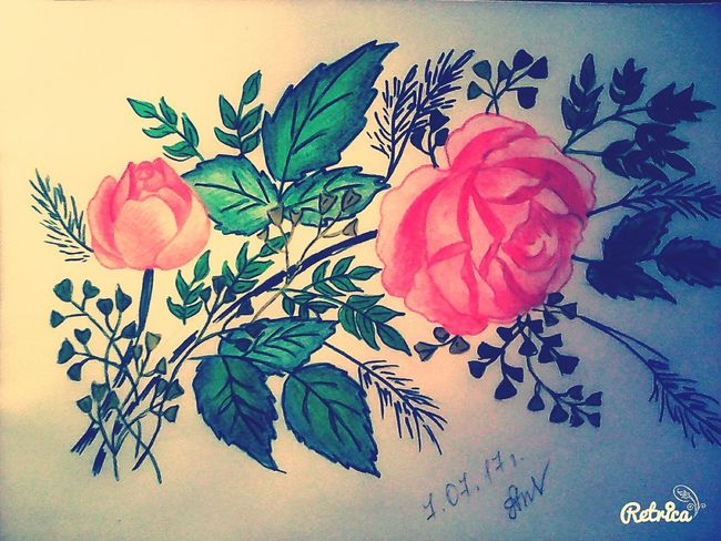 розы красота нежность Nature Beautiful Nature Beauty In Nature Природа арт  Art, Drawing, Creativity Art Flower Watercolor Painting Rose🌹 Rose - Flower Rosé
