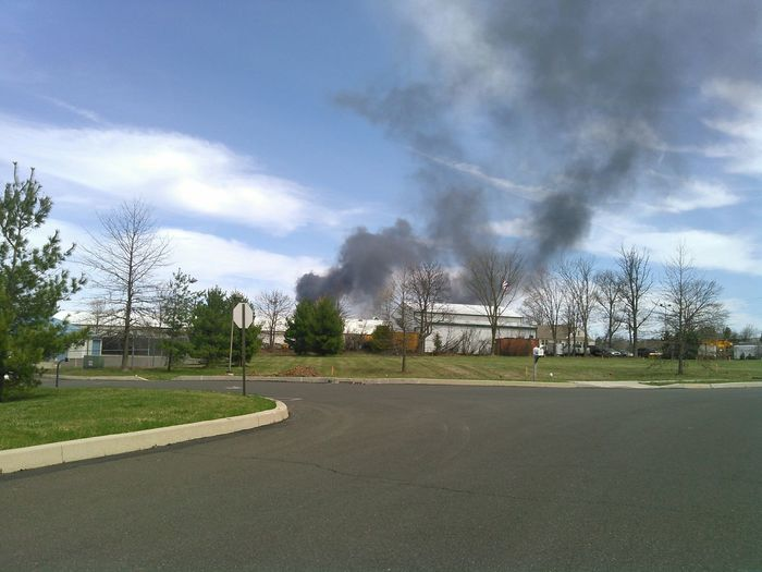 Bucks County  Fire Burning