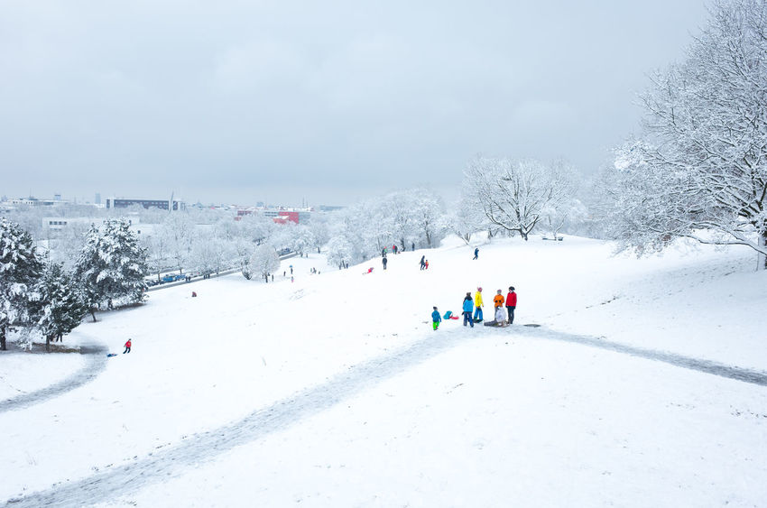 Olympic Hill Munich Winter Beauty In Nature Cold Temperature Day Extreme Weather Germay Mountain Nature Outdoors Real People Scenics Ski Holiday Skiing Sky Sledding Snow Sport Tree Vacations Weather White Color Winter