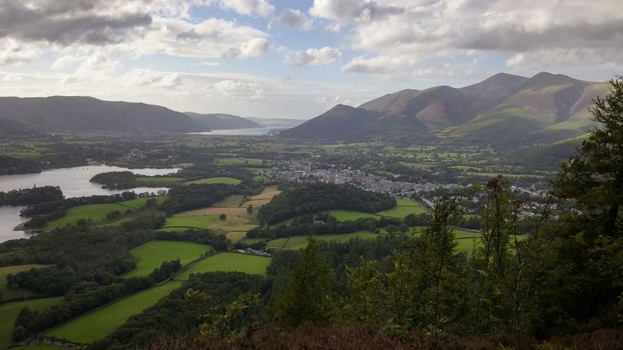 Lake District Landscape Mountain Sky Derwent Water Skiddaw Range Skiddaw Beauty In Nature Outdoors Cloud - Sky Beauty In Nature Panoramic