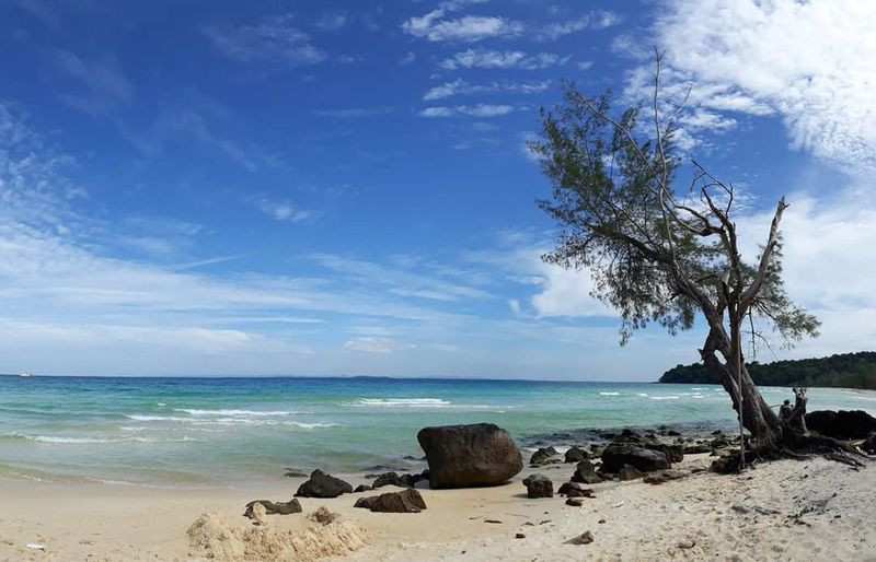 Clearwater Bay, Cambodia. Sea Beach Horizon Over Water Sky Cloud - Sky Tree Sand Blue Nature Landscape Beauty In Nature Travel Destinations Water