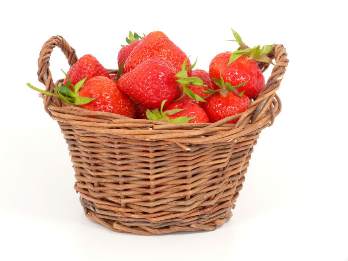 Asian Food Basket Eating Food Food State Freshness Healthy Eating Healthy Lifestyle Large Group Of Objects No People Red Strawberries Strawberry Strawberry Love Studio Shot White Background Wicker