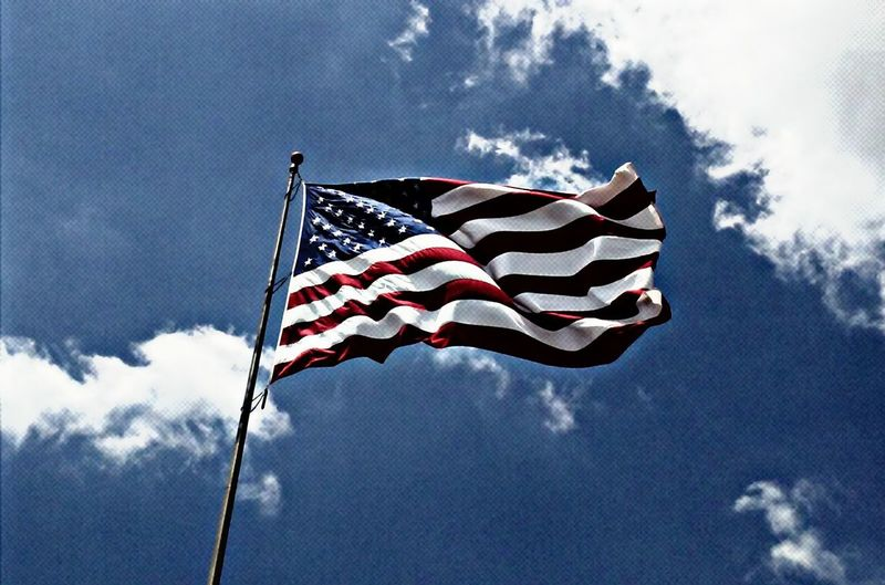 . freedom to speak, discover and be one as a nation . Flag, United States, freedom