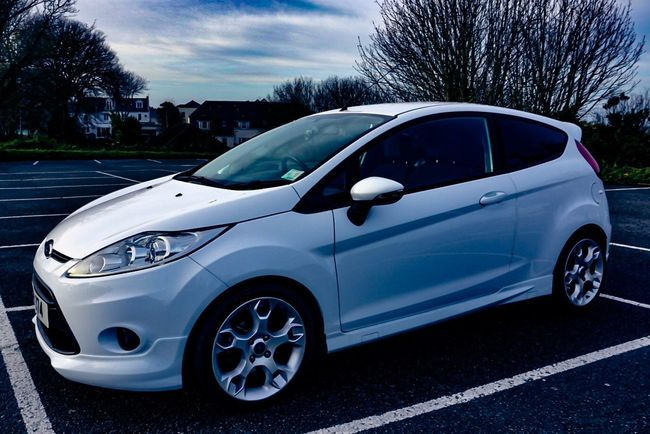 Modern Style Tint White Fast Car Sports Car Ford Car Road Trip Outdoors Tree Tire Day No People