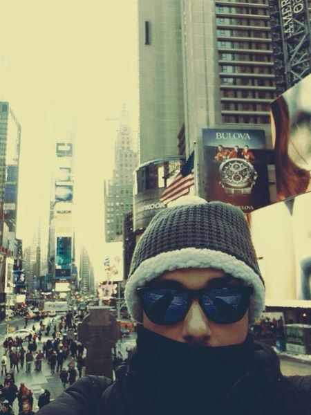 Time Square, New York Selfie That's Me Enjoying Life