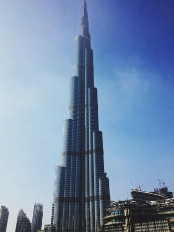 Burj Khalifa Burj Khalifa Dubai UAE Building Skyscraper Blue Tall First Eyeem Photo EyeEmNewHere