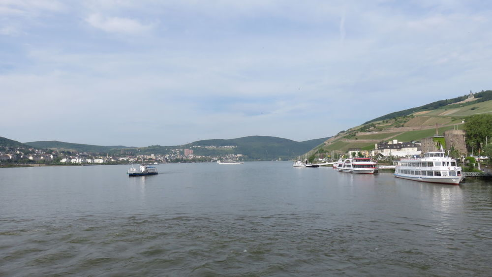 cruise on the rhine Boat Cloud - Sky Cruise Medieval Nature No People Outdoors Rhine Rippled River Scenics Sky Water Wine Feel The Journey