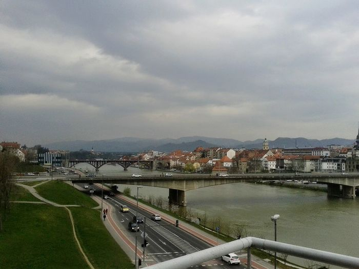 Maribor traveling City Architecture High Angle View Cityscape Bridge - Man Made Structure Building Exterior Outdoors Built Structure Day Sky Travel Destinations Urban Skyline Politics And Government Maribor Maribor Culture