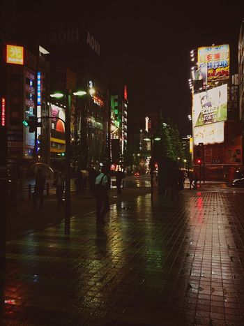 Japan Streetphotography Night Night Lights Light And Shadow Street Walking Around Neon Water Reflections Colors