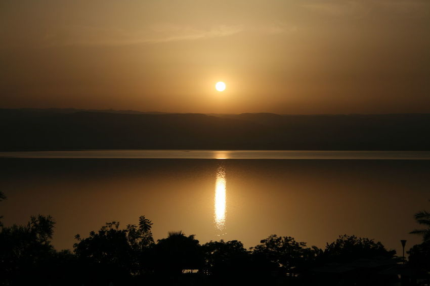 In the lowest point on earth = -370m below sea level Golden Goldenhour Peaceful Reflection Serene Sun Sunset