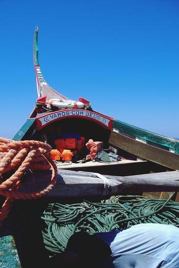 Fishing Boat Sky VamoscomDeus Portugal