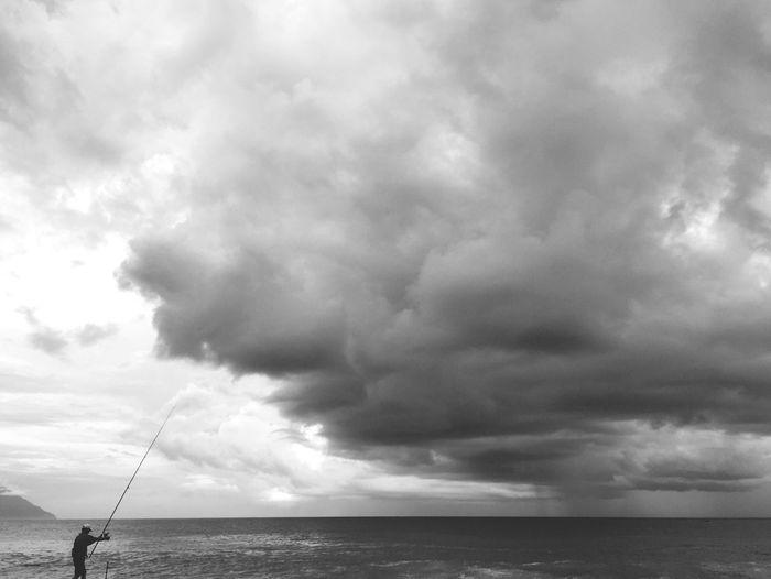 七星潭 Hualien, Taiwan Fishing 七星潭 Sky Cloud - Sky Water Sea Horizon Over Water Horizon Beauty In Nature