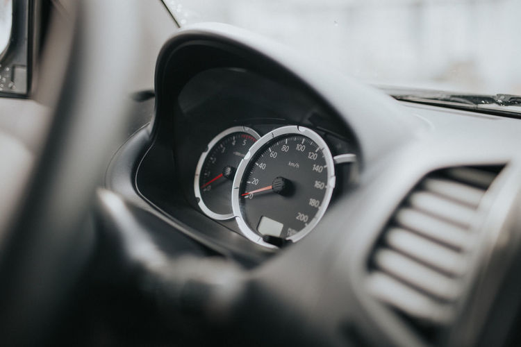 Car Car Interior Clock Clock Face Close-up Dashboard Day Indoors  Land Vehicle Mode Of Transport No People Speed Speedometer Time Transportation Vehicle Vehicle Interior Vehicle Part