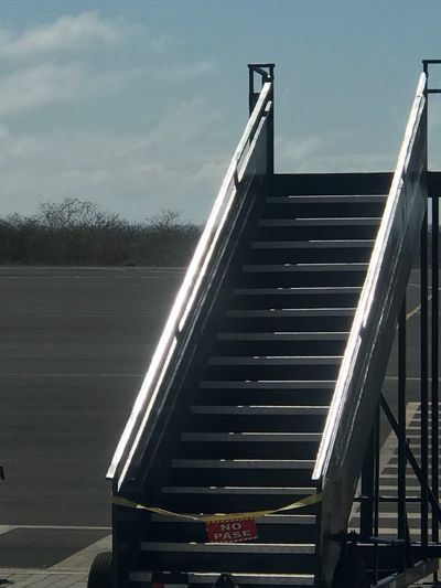 """Stair way to heaven. """" do not Pass"""" Railing Staircase Steps And Staircases Day Sky Steps Outdoors Built Structure No People Technology Architecture"""
